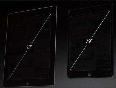 Сравнение экранов iPad и iPad mini
