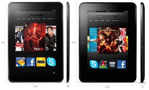 Планшеты Amazon Kindle Fire HD с экраном 7
