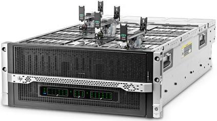 Сервер HP Moonshot 1500 на процессорах Intel Atom