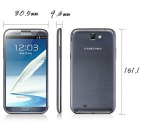 Смартфон Samsung Galaxy Note II с 5,5-дюймовым экраном