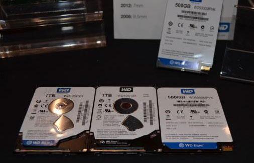 5-мм и 7-мм 500-ГБ и 1-ТБ 2,5-дюймовые гибридные жёсткие диски компании Western Digital