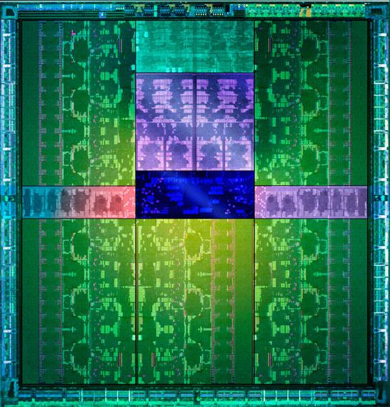 Изображение кристалла NVIDIA GK110