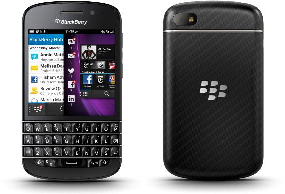 Смартфон BlackBerry Q10 с физической клавиатурой