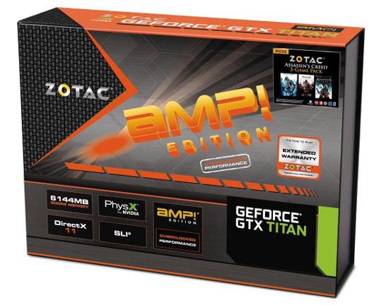 Коробка видеокарты ZOTAC GeForce GTX TITAN AMP! Edition