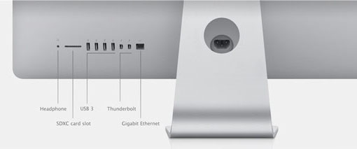 Варианты портов на задней панели моноблоков Apple