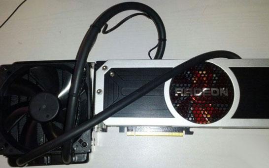 Ожидаемый внешний вид двухпроцессорной видеокарты AMD Radeon R9 295X2