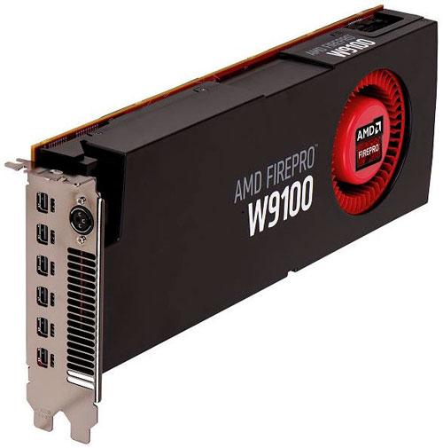 Видеокарта AMD FirePro W9100 (один GPU Hawaii)