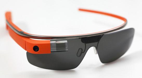 Носимый компьютер-очки Google Glass с оправой и солнцезащитными стёклами