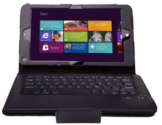 Возможное изображение 8-дюймового планшета Microsoft Surface mini в чехле с внешней клавиатурой