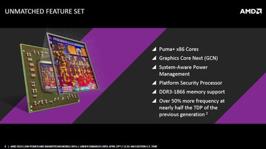 Набор основных улучшений в AMD APU Beema и Mullins