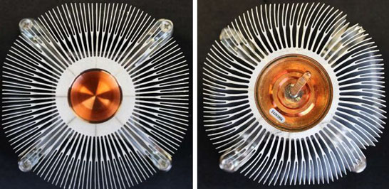 Сравнение формы рёбер радиаторов (новая модель справа)