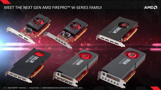 Весь спектр новых профессиональных видеокарт компании AMD