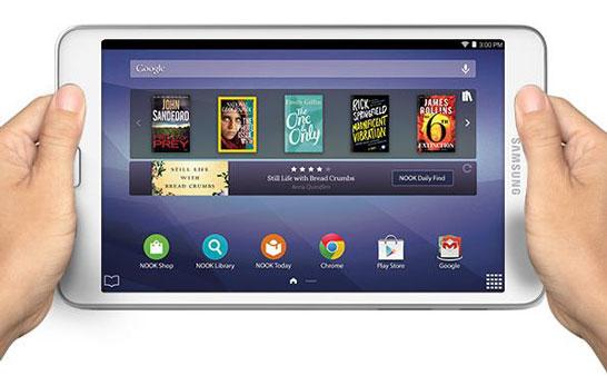 Новый 7-дюймовый планшет компании Barnes & Noble со скромной надписью «Samsung»