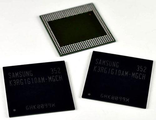 Микросхемы памяти LPDDR4 объёмом 1 ГБ производства Samsung