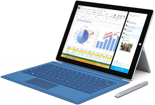Планшет Microsoft Surface Pro 3 с 12-дюймовым экраном
