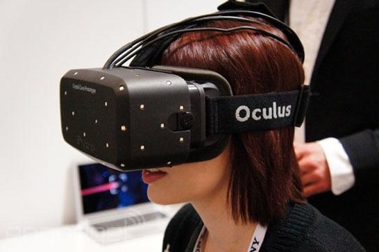 Очки Crystal Cove компании Oculus VR в работе