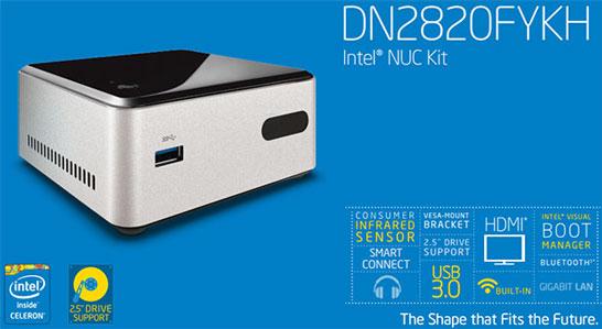 Модель NUC Intel DN2820FYKH