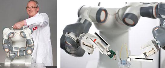 Пример робота для работы на сборочном конвейере (модель FRIDA компании ABB)