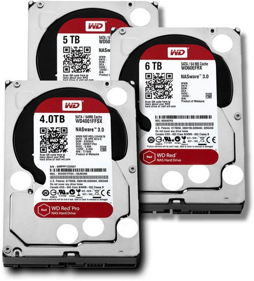 3,5-дюймовые жёсткие диски WD Red и WD Red Pro для небольших NAS