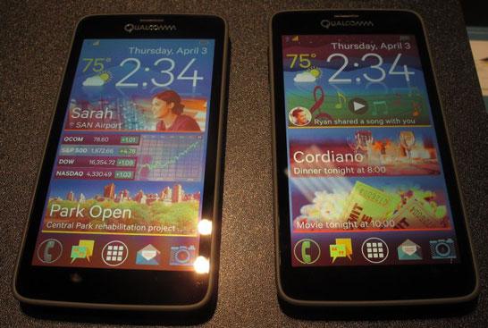 Смартфоны с 5,1-дюймовыми экранами Qualcomm SMI (фото в отражённом свете)