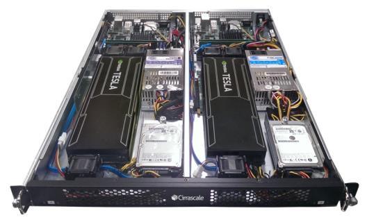 Полочный компьютер на базе NVIDIA Tesla и процессоров Applied Micro