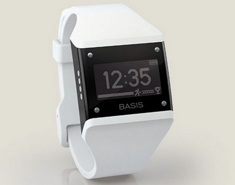 Наручное устройство компании Basis Science для мониторинга состояния здоровья человека