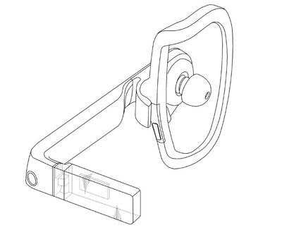 Изображение «умных» очков из патента Samsung