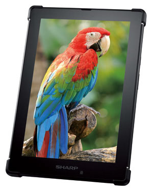 Примерный вид первого планшета Sharp на экране MEMS-IGZO