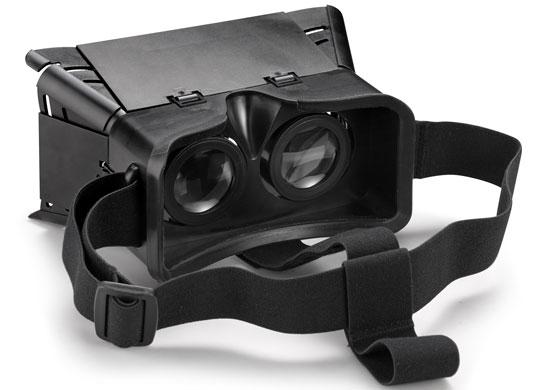 Футляр Archos VR Glasses для смартфона. Вид со стороны окуляров.
