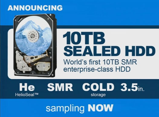 Начаты пробные поставки 10-ТБ HDD HGST HelioSeal