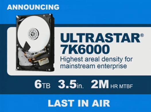 Последними «воздушными» HDD компании HGST станут 6-ТБ пятипластинные накопители