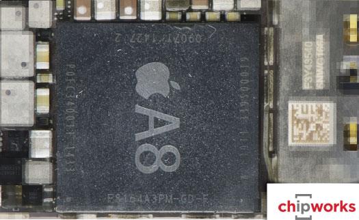 Фотография нового процессора Apple A8