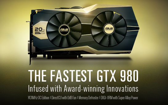 Юбилейная редакция видеокарты ASUS GTX 980 Gold Edition