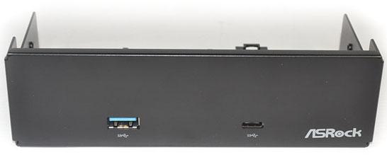 Панель ASRock для 5,25-дюймововго отсека с двумя портами USB 3.1