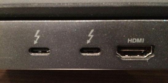 Порты Thunderbolt 3 / USB Type-C на ноутбуке Lenovo