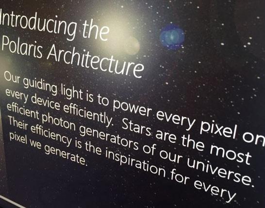 Часть слайда AMD с сообщением о графической архитектуре Polaris