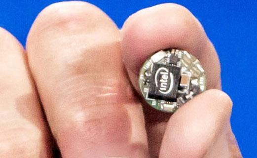 Компьютерный модуль Intel Curie размером с пуговку