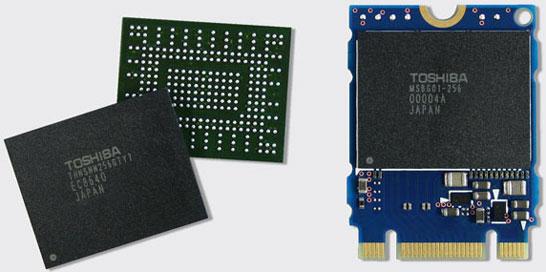 Однокорпусные SSD Toshiba в микросхемах и в составе модулей M.2