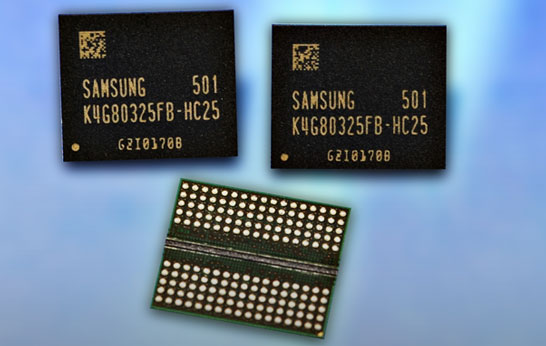 Микросхемы памяти Samsung GDDR5 ёмкостью 8 Гбит
