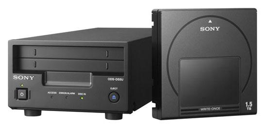 Оптический привод и картридж Sony формата Optical Disc Archive (разновидность Blu-ray)