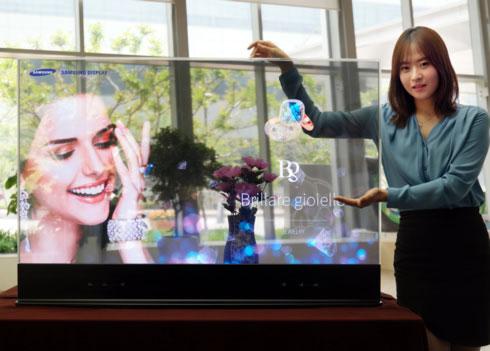 Полупрозрачная 55-дюймовая OLED-панель Samsung