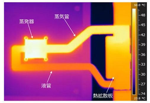 Фотография системы охлаждения Fujitsu  в работе