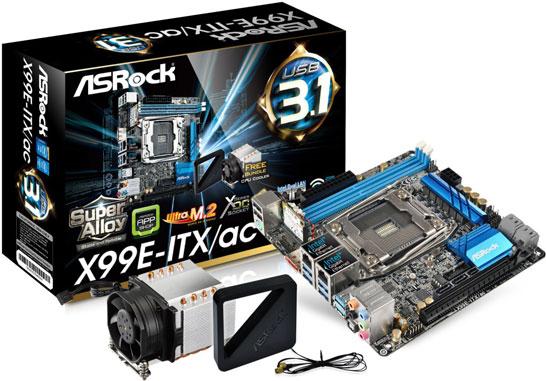 Материнская плата ASRock X99E-ITX/ac в формфакторе mini-ITX
