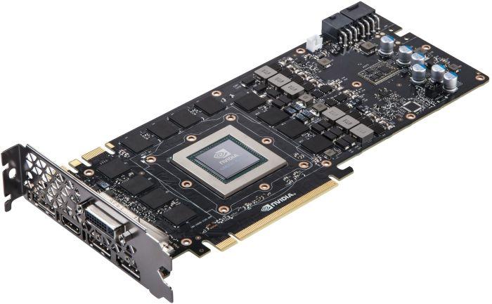 Изображение платы NVIDIA GeForce GTX Titan X со снятой системой охлаждения