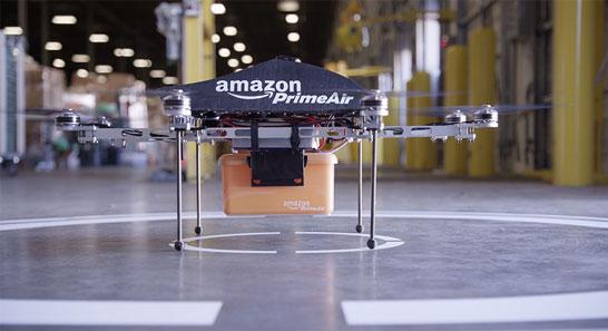 Компания Amazon экспериментирует с доставкой товаров дронами