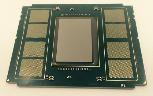 Ускоритель Intel Knights Landing с площадками под память Micron HMC
