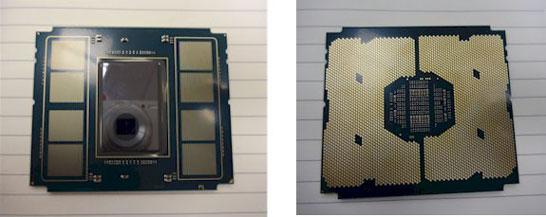 14-нм процессор Intel Knights Landing (без установленной памяти, но с площадками под память MCDRAM/HMC)