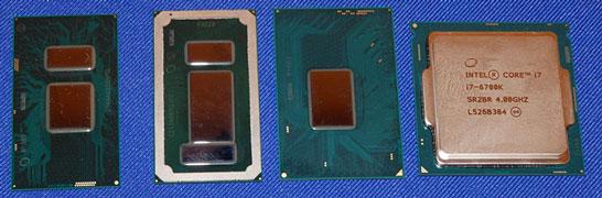 Варианты исполнения процессоров Intel поколения Skylake