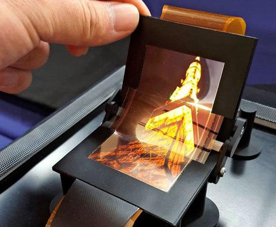 Гибкий OLED Sharp диагональю 3,4 дюйма с радиусом изгиба до 10 мм