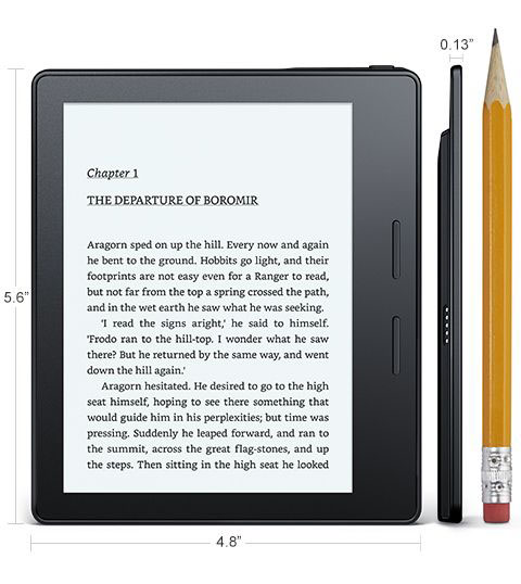 Электронная книга Amazon Kindle Oasis без обложки